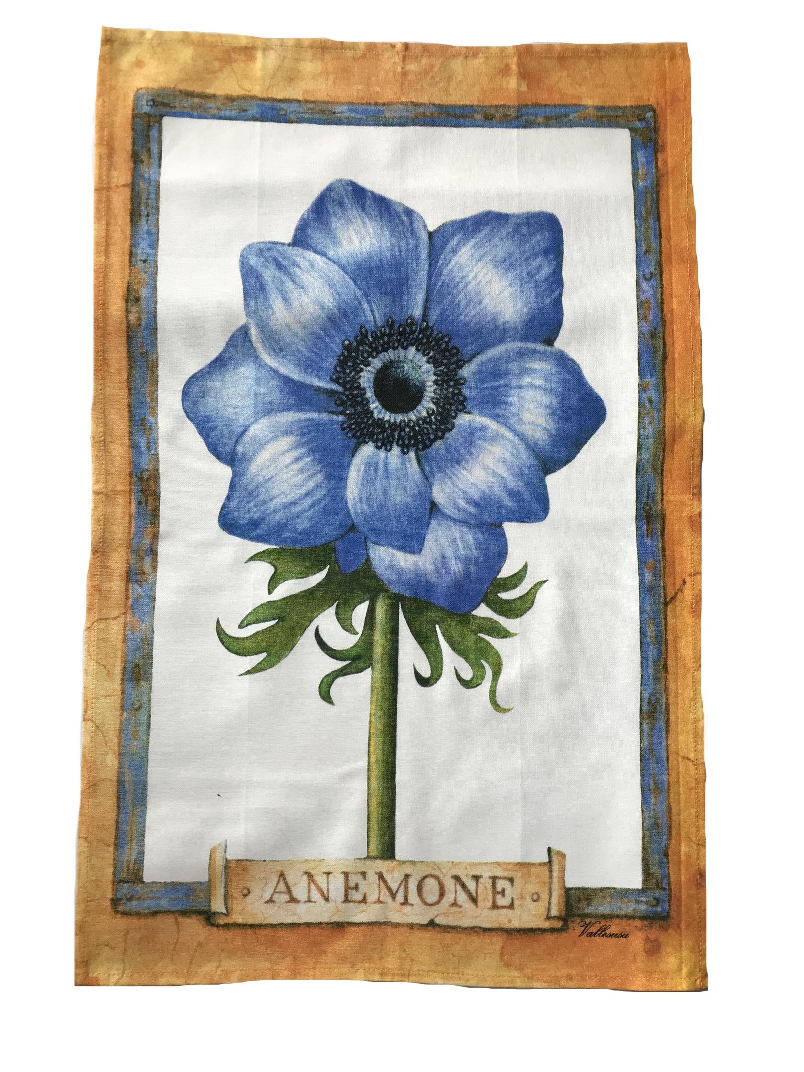 Полотенце кухонное Pastel Анемона, синий недорго, оригинальная цена