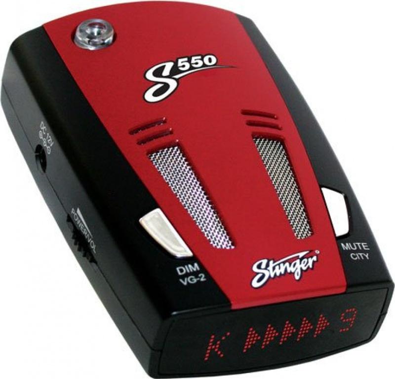 Радар-детектор Stinger S550, черный, красный