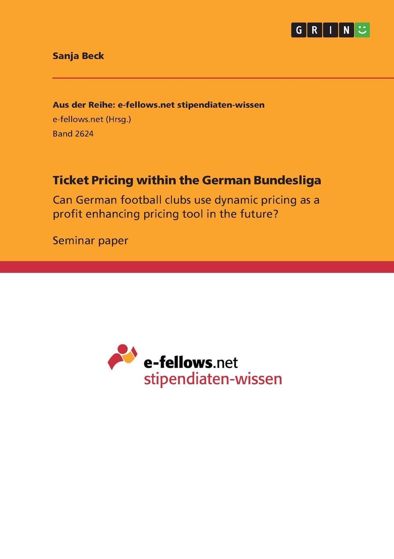 Sanja Beck Ticket Pricing within the German Bundesliga korean pricing policies and economic development i n the 1960s