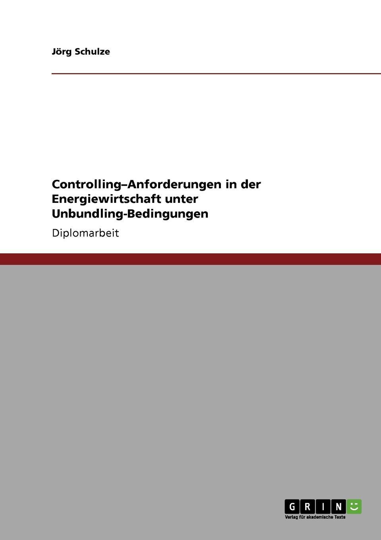 Jörg Schulze Controlling-Anforderungen in der Energiewirtschaft unter Unbundling-Bedingungen franz stolz spezifische anforderungen an das controlling in kmu