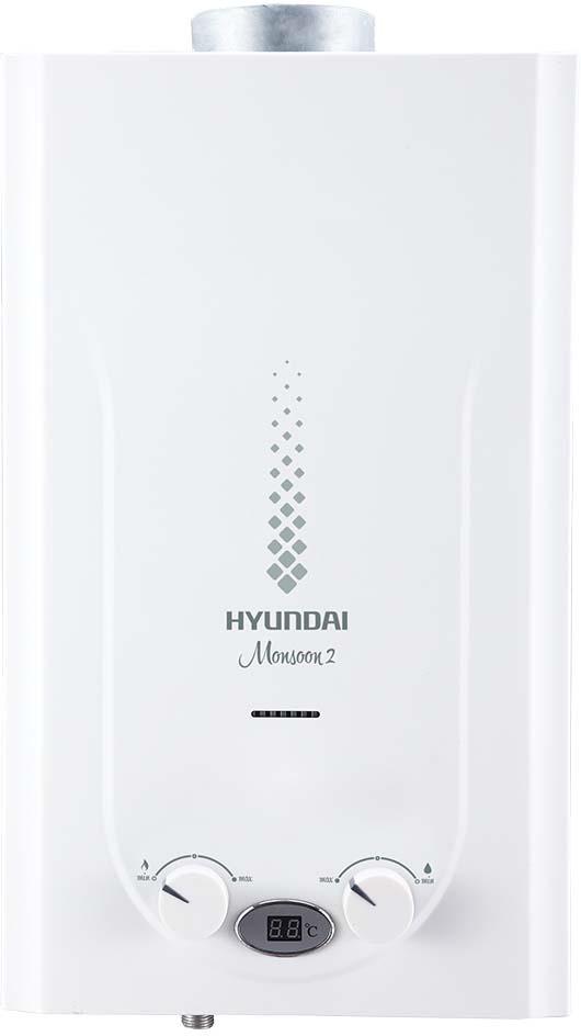 Водонагреватель газовый проточный Hyundai Monsoоn 2, H-GW2-ARW-UI308, белый, 20 кВт, 10 л/мин