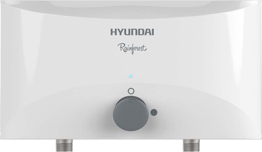 Водонагреватель проточный электрический Hyundai Rainforest, H-IWR1-3P-UI057/S, белый, душ, 3,5 кВт