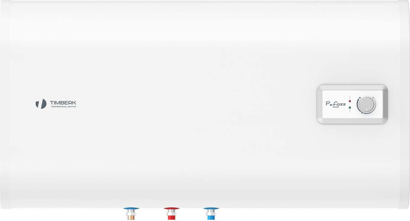 Водонагреватель накопительный электрический Timberk FSL2, SWH FSL2 100 HE, 100 л, белый водонагреватель timberk swh fsl2 100 he накопительный в н нерж fsl2 100л горизонт плоск