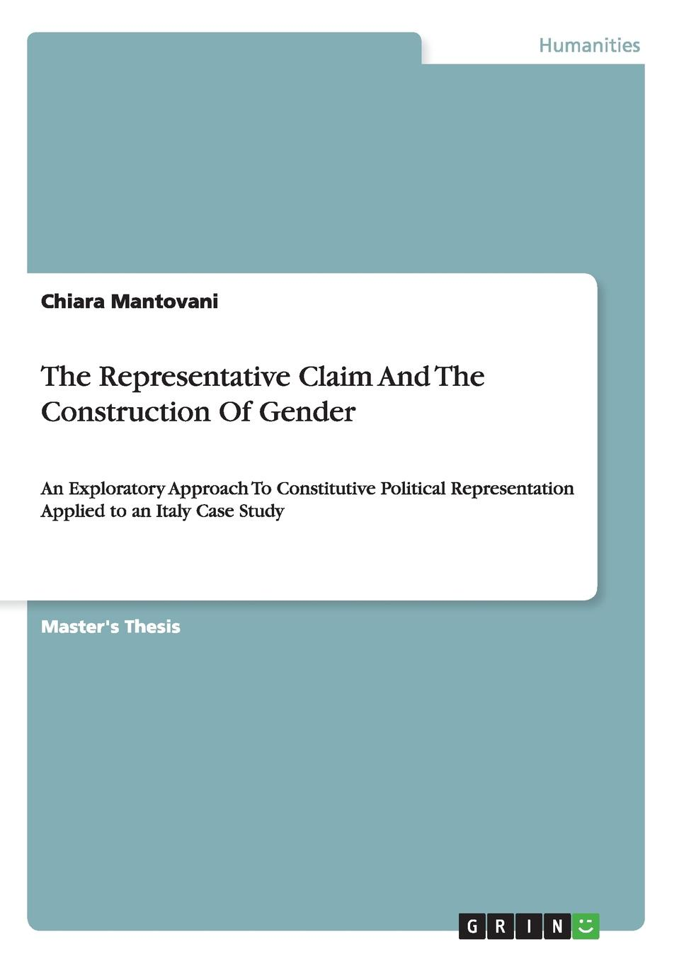 Chiara Mantovani The Representative Claim And The Construction Of Gender недорого