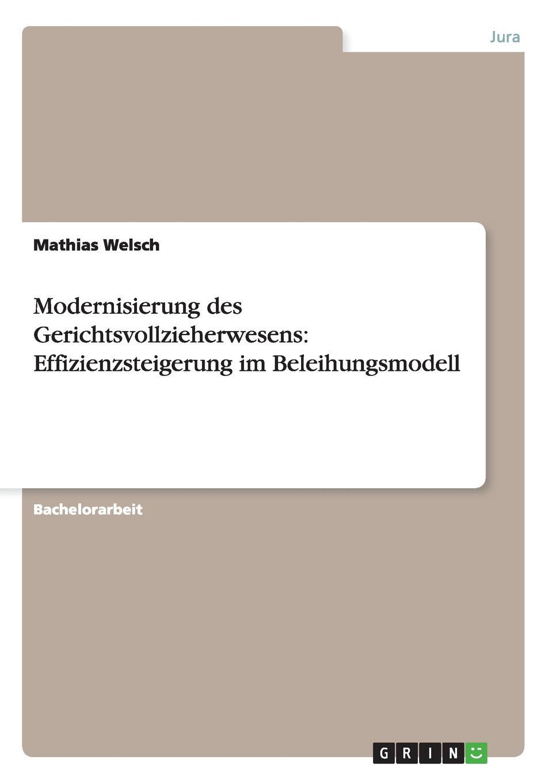 Mathias Welsch Modernisierung des Gerichtsvollzieherwesens. Effizienzsteigerung im Beleihungsmodell stefan pilz die privatisierung des gerichtsvollzieherwesens