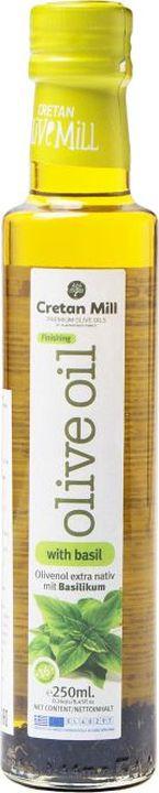 Оливковое масло Cretan Mill Extra Virgin, с базиликом, 250 мл balis vegan лимонад с базиликом и имбирем 250 мл