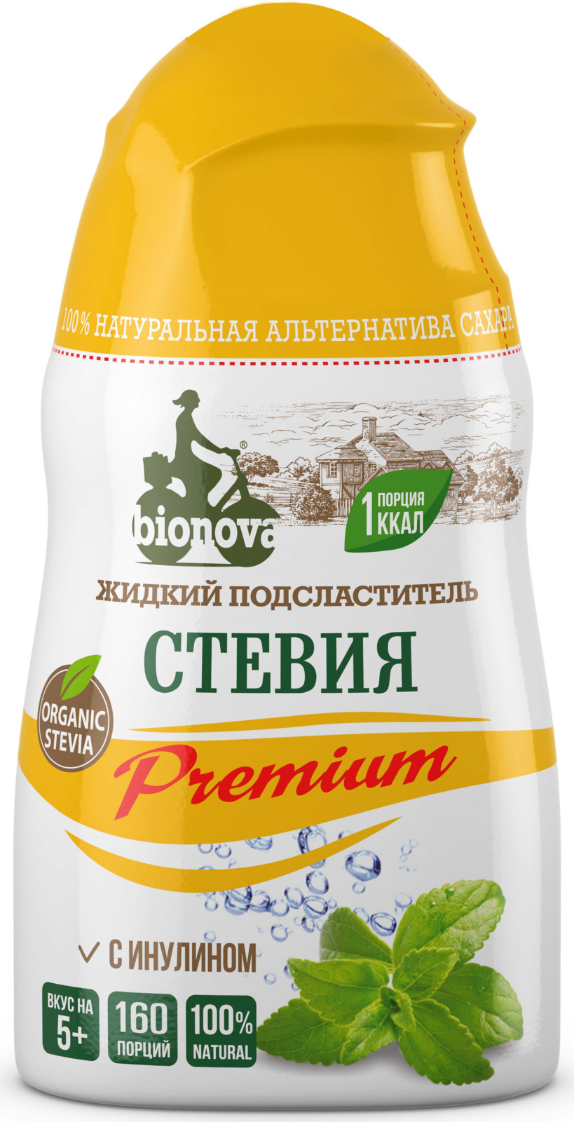 Сахарозаменитель Bionova Стевия Premium жидкий, 80 г bio tradition стевия натуральный заменитель сахара 30 г