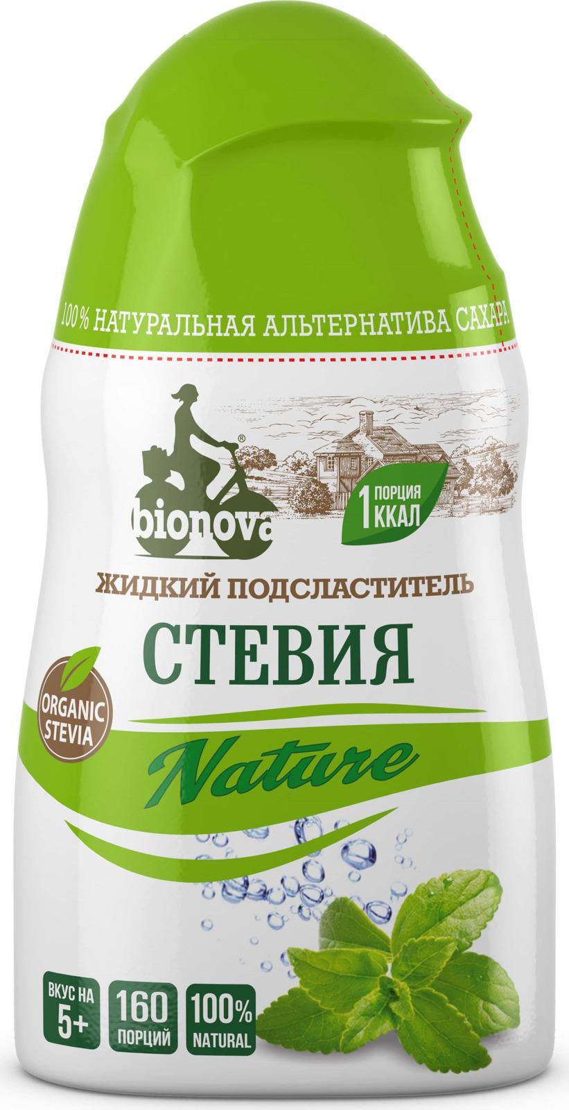Сахарозаменитель Bionova Стевия жидкий, 80 г bio tradition стевия натуральный заменитель сахара 30 г