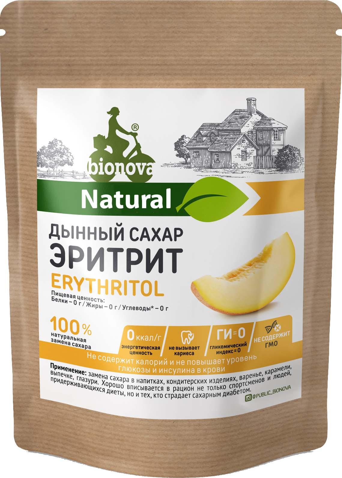 Сахарозаменитель Bionova Эритрит, 200 г