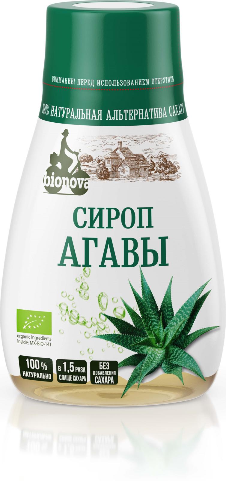 Сахарозаменитель Bionova Органический светлый сироп агавы, 230 г