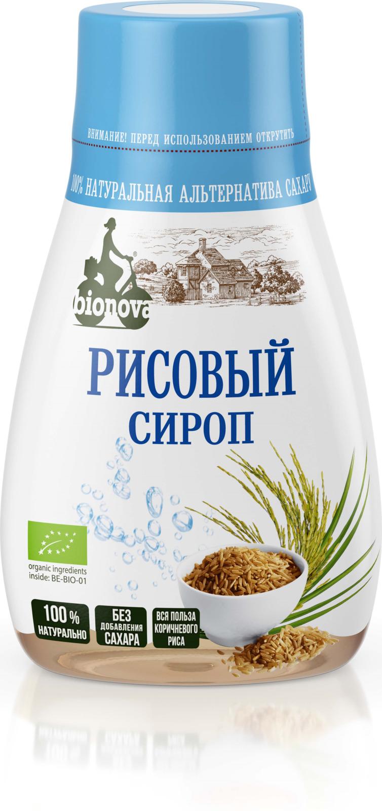 Сахарозаменитель Bionova Органический рисовый сироп, 230 г bionova мюсли хрустящие запеченные яблочные 400 г