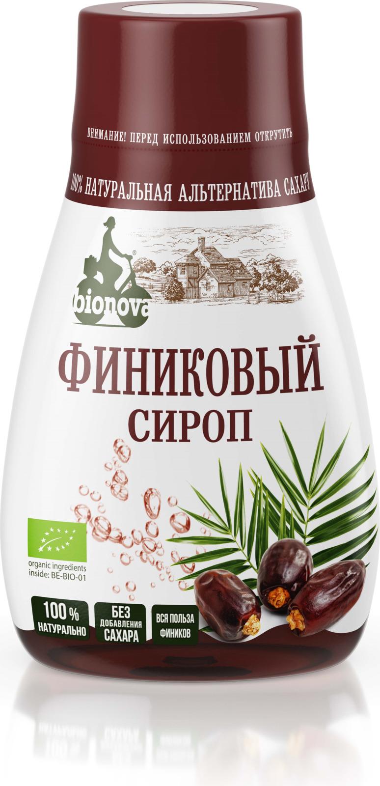 Сахарозаменитель Bionova Органический финиковый сироп, 230 г bionova мюсли хрустящие запеченные яблочные 400 г