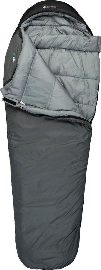 Спальный мешок Outventure Trek T -12, S19EOUOS008-91, левосторонняя молния, серый, размер M-L