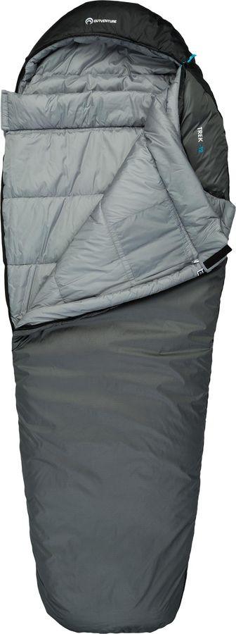 Спальный мешок Outventure Trek T -12, S19EOUOS009-91, правосторонняя молния, серый, размер XL-XXL