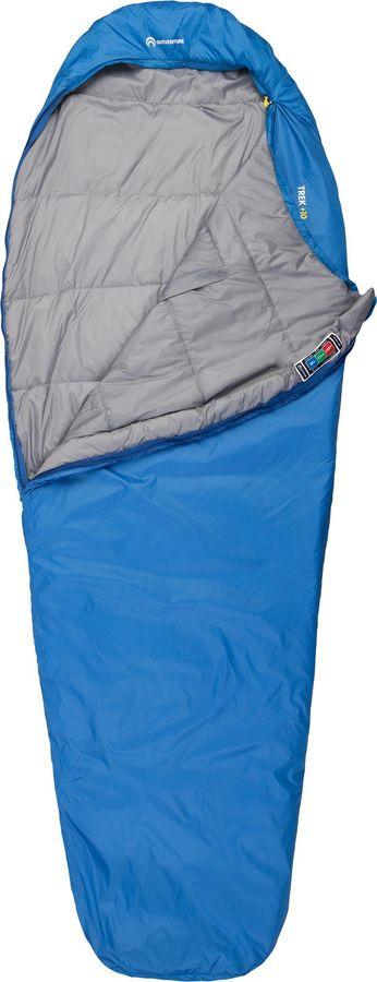 Спальный мешок Outventure Trek T -6, S19EOUOS013-Z3, правосторонняя молния, синий, размер XL-XXL