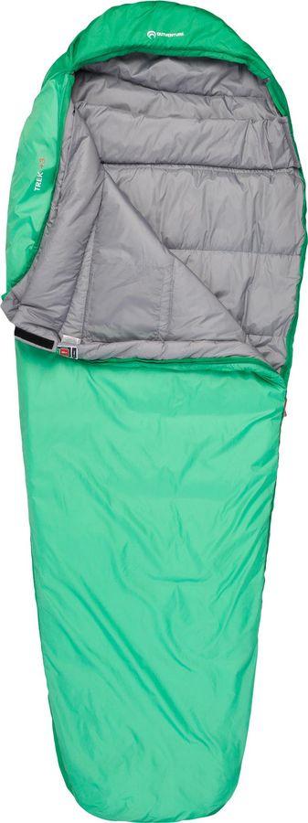лучшая цена Спальный мешок Outventure Trek T +3, S19EOUOS015-G4, левосторонняя молния, зеленый, размер XL-XXL