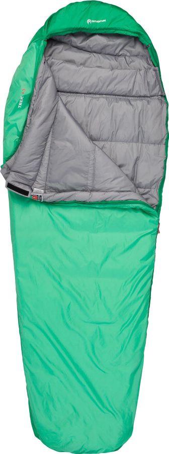 лучшая цена Спальный мешок Outventure Trek T +3, S19EOUOS016-G4, левосторонняя молния, зеленый, размер M-L