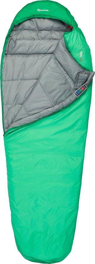 лучшая цена Спальный мешок Outventure Trek T +3, S19EOUOS017-G4, правосторонняя молния, зеленый, размер XL-XXL