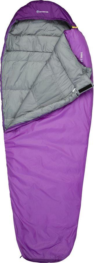 Спальный мешок Outventure Trek T +3, S19EOUOS020-84, правосторонняя молния, бордовый, размер One Size