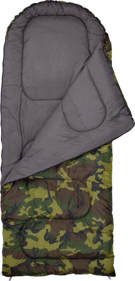 Спальный мешок Outventure Toronto T +10, S19EOUOS027-U1, правосторонняя молния, зеленый, размер XL-XXL