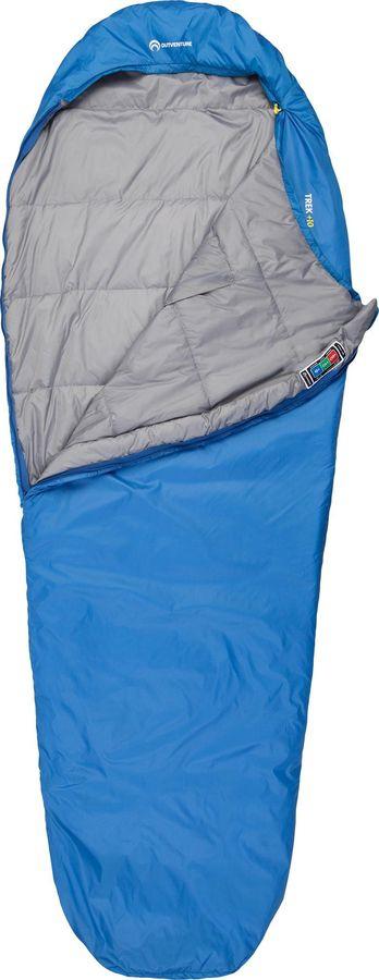 Спальный мешок Outventure Trek +10, S19EOUOS041-Z2, правосторонняя молния, синий, размер M-L