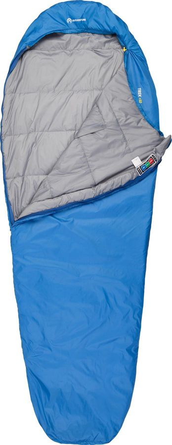 Спальный мешок Outventure Trek +10, S19EOUOS042-Z2, правосторонняя молния, синий, размер XL-XXL