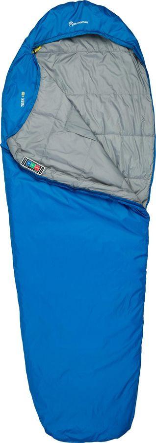 Спальный мешок Outventure Trek +10, S19EOUOS043-Z2, левосторонняя молния, синий, размер M-L