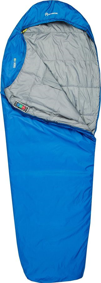 Спальный мешок Outventure Trek +10, S19EOUOS044-Z2, левосторонняя молния, синий, размер XL-XXL