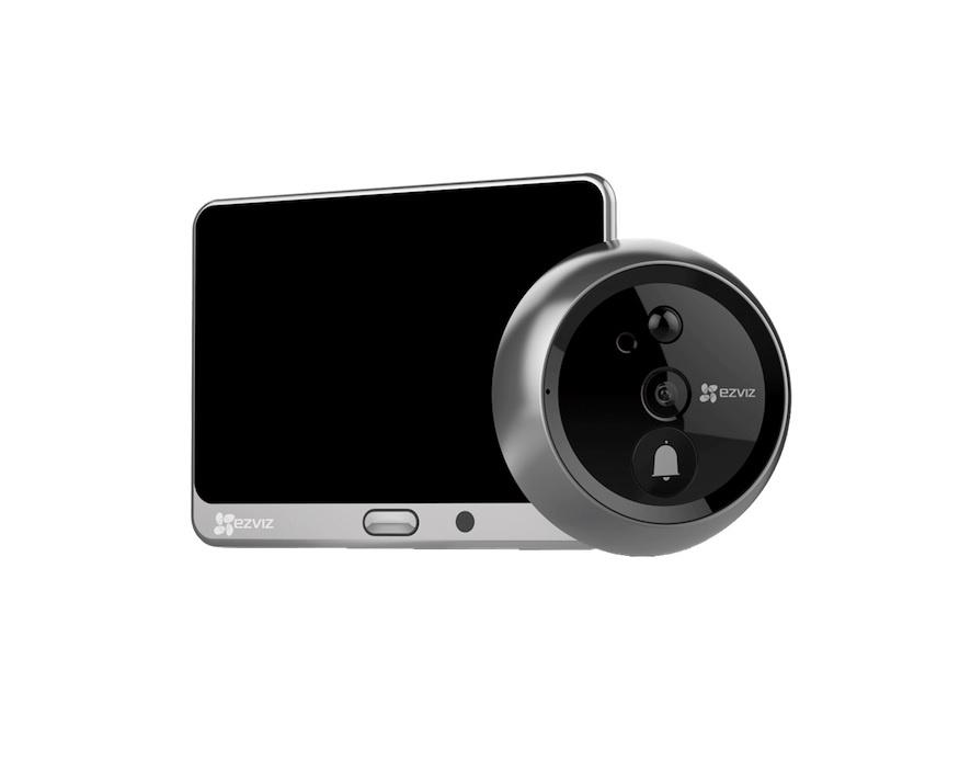 Видеоглазок Ezviz CS-DP1-A0-4A1WPFBSR/SilverMetallic, серый металлик дверной глазок apecs 5016 30 55 g 00015953