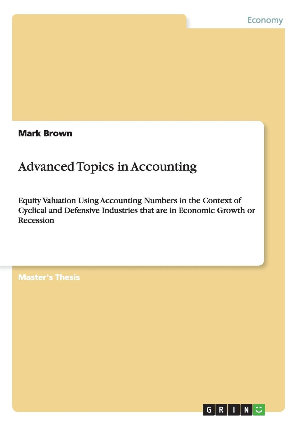 цена на Mark Brown Advanced Topics in Accounting