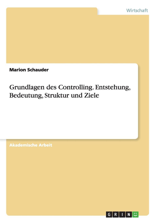 Marion Schauder Grundlagen Des Controlling. Entstehung, Bedeutung, Struktur Und Ziele цепь из серебра 70034