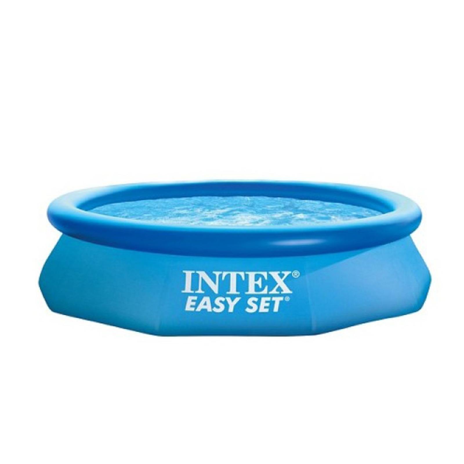Бассейн надувной Intex Easy Set, 28132NP, 5621 л, 366 х 76 см фильтр насос для бассейна intex ультра песочный с26646 белый 732 х 366 см 220v