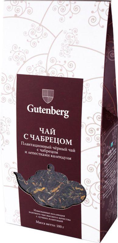 Чай черный листовой Gutenberg Чабрец, 100 г teacher черный с чабрецом gfop крупный листовой чай с типсами 500 г