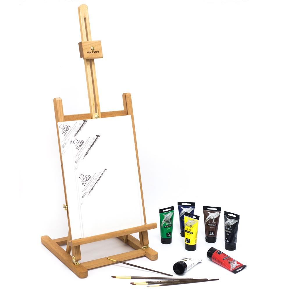 Набор для рисования Малевичъ с акриловыми красками