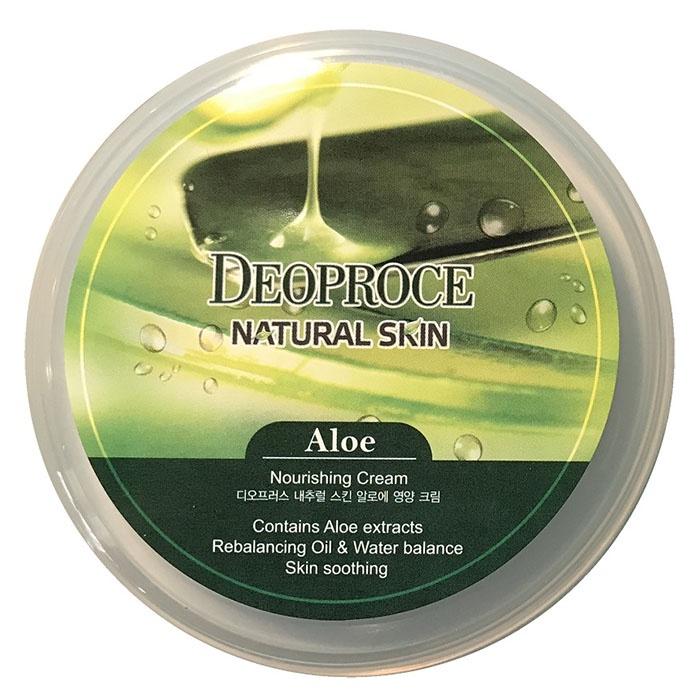 Крем для лица и тела на основе экстракта сока алое DEOPROCE Natural Skin Aloe Nourishing Cream Deoproce
