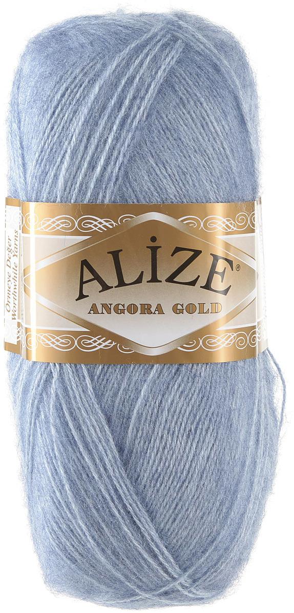 """Пряжа для вязания Alize """"Angora Gold"""", цвет: светлый джинс (221), 550 м, 100 г, 5 шт"""