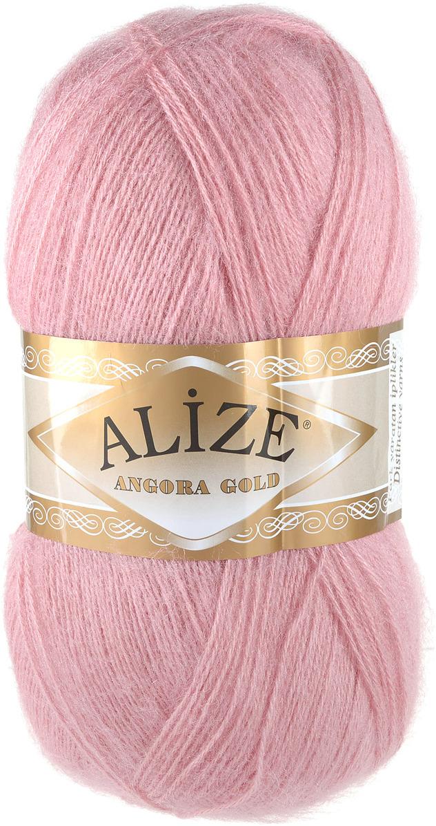 "Пряжа для вязания Alize ""Angora Gold"", цвет: темно-розовый (144), 550 м, 100 г, 5 шт"