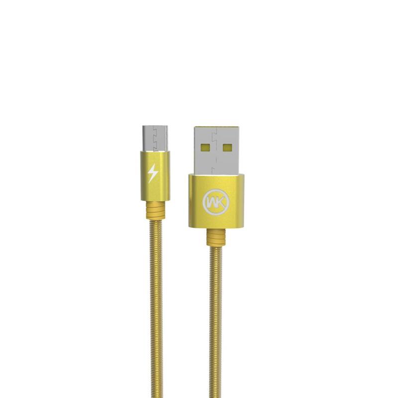 Кабель WK WDC-013 кабель usb microusb 0 5m fuse chicken travel m в стальной оплетке серебристый