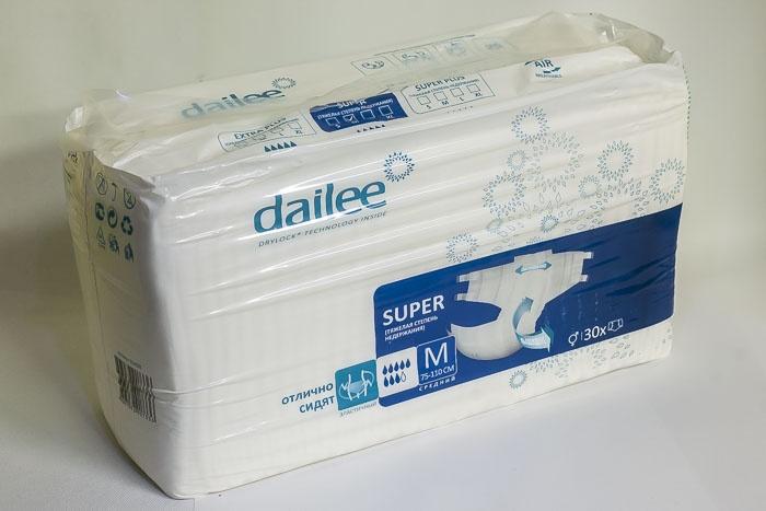 Подгузники Dailee М 75-110см подгузники для взрослых id размер m 30шт