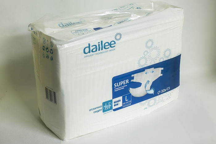 Подгузники для взрослых Dailee super L подгузники для взрослых id размер m 30шт