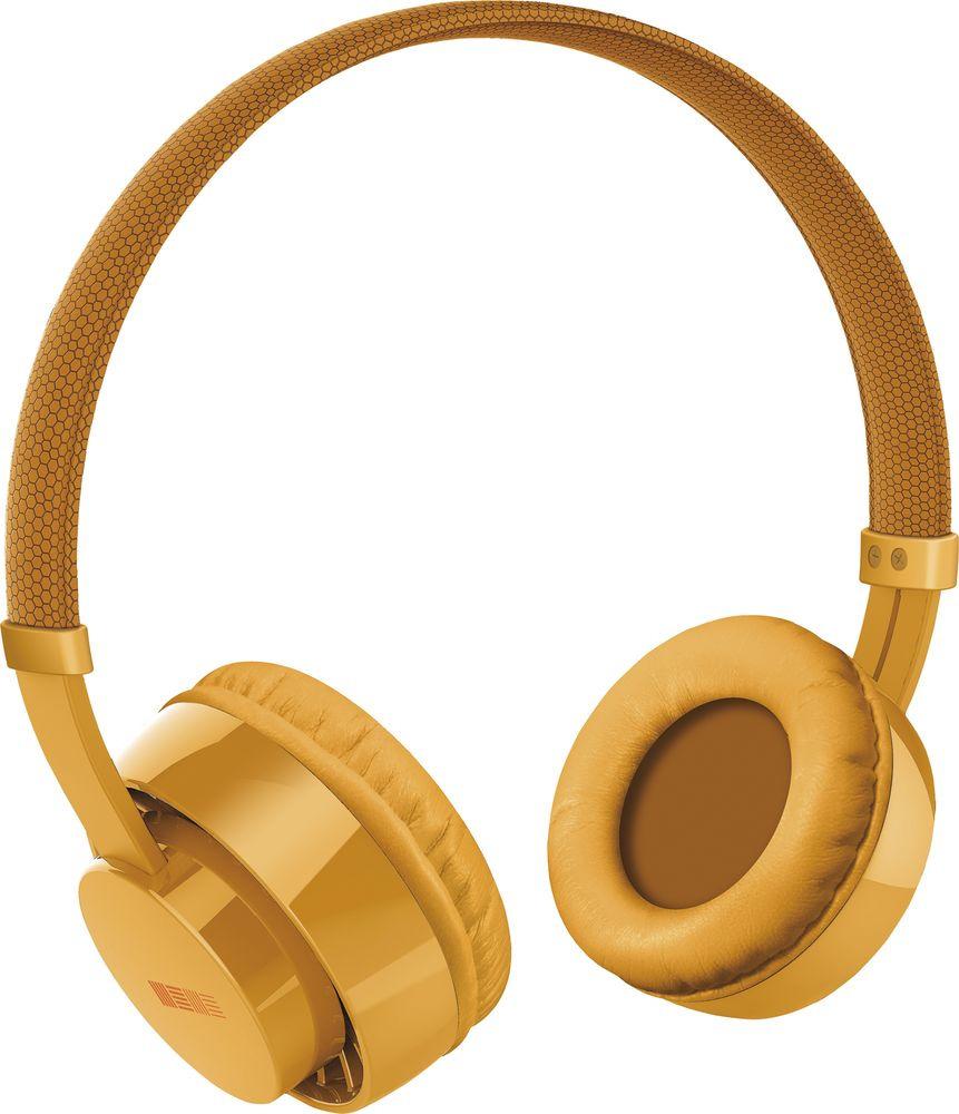 Наушники Interstep HDP-150, желтый, золотой цена