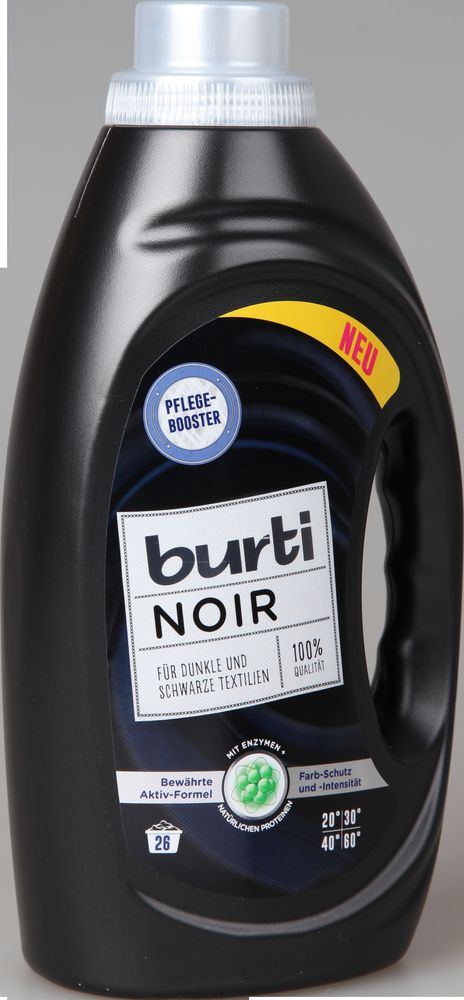 Жидкое средство для стирки Burti Noir для черного и темного белья, джинсовой одежды, 122551, 1,45 л средство для стирки burti color liquid для цветного белья 1 5 л