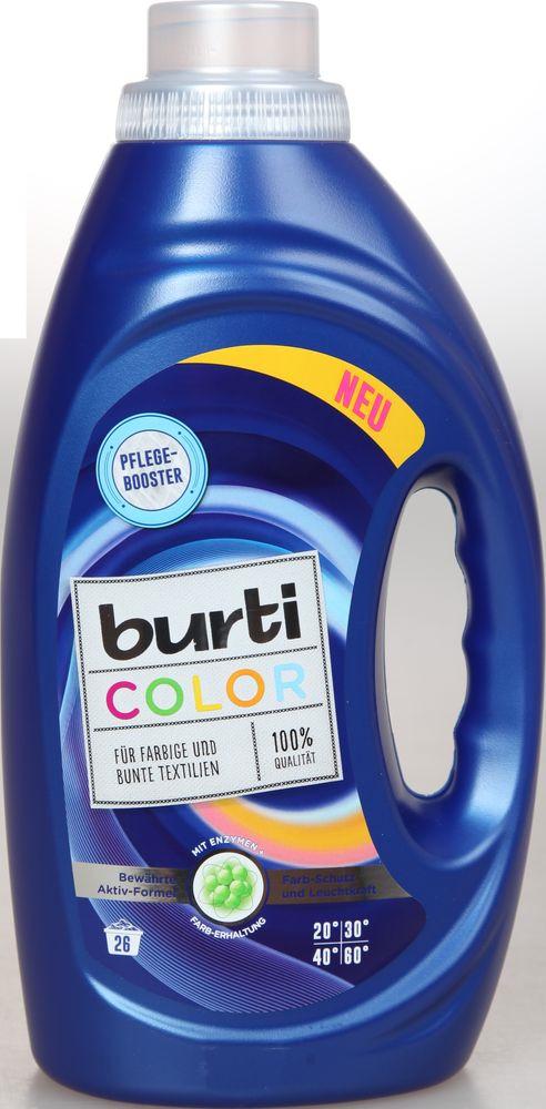 Жидкое средство для стирки Burti Color для цветного белья, 122575, 1,45 л средство для стирки burti color liquid для цветного белья 1 5 л