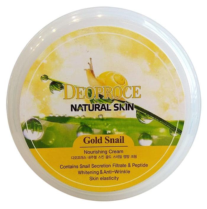 Крем для ухода за кожей Deoproce 4003 Крем питательный для лица и тела с золотом и улиточным экстрактом...