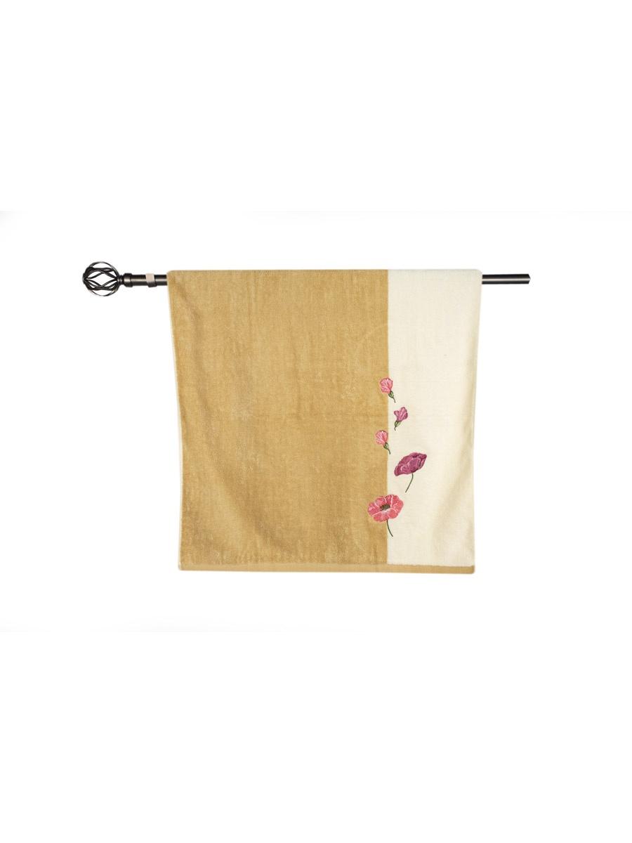 Полотенце банное Grand Stil Маки, размер 68*135, Т753b, коричневый