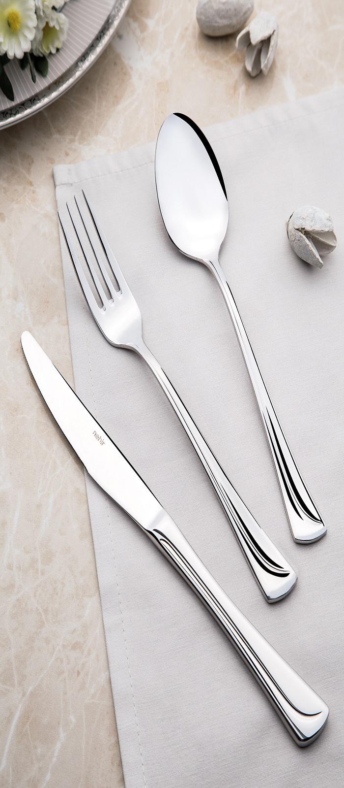 Набор столовых приборов NEHIR MAKSISATEN, серебристый набор столовых приборов carl schmidt sohn baguette 24 предмета