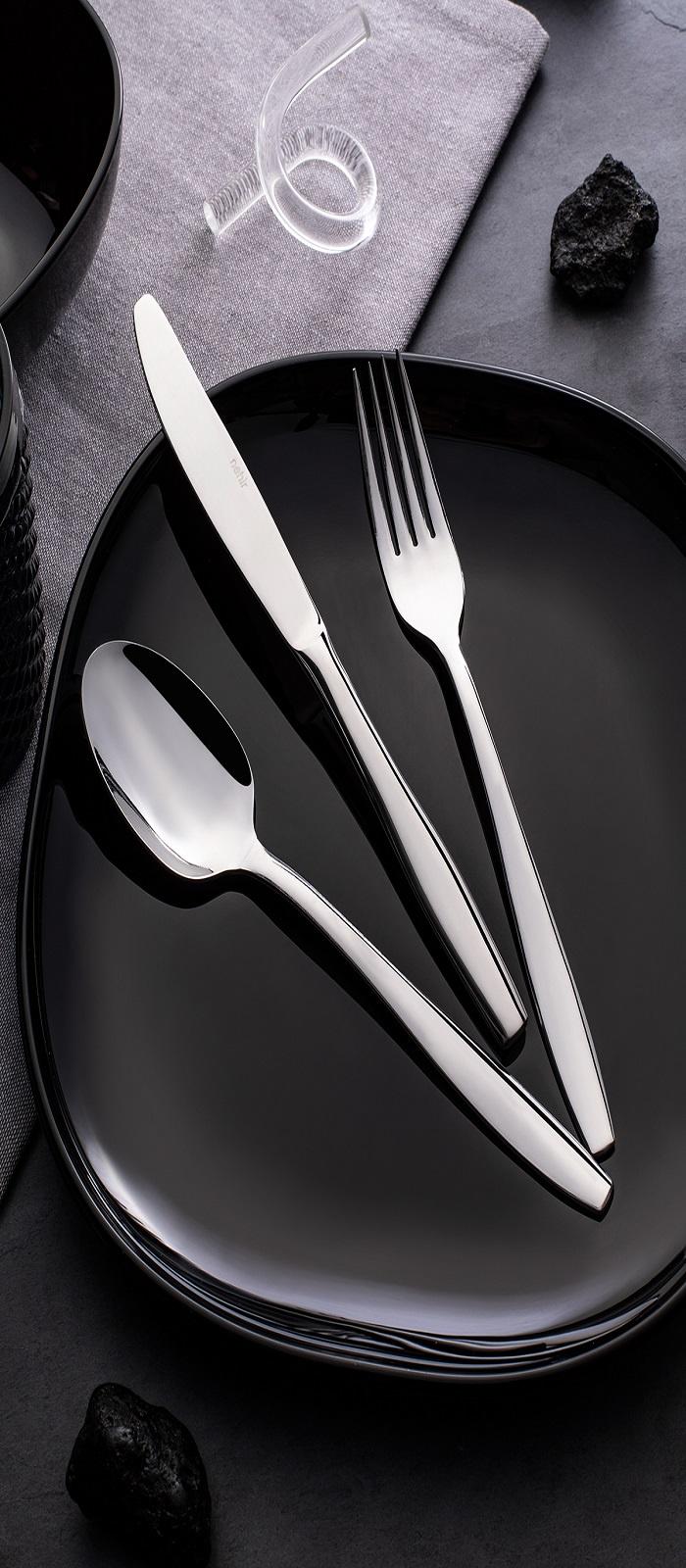 Набор столовых приборов NEHIR SAHRASADE, серебристый набор из 3 столовых ножей крис 2013037u