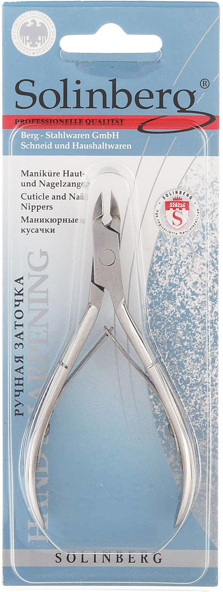 Кусачки маникюрные Solinberg 111з Classic Line (ручная заточка), серебристые, двойная пружина, лезвия 6 мм терка для ног деревянная основа двухсторонняя solinberg ширина 60 мм