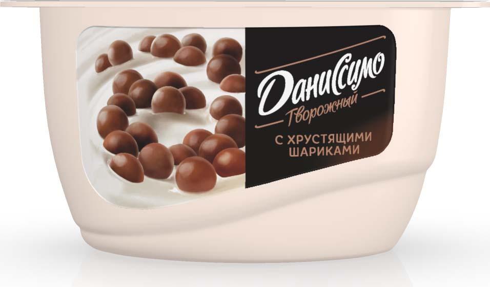 Даниссимо Продукт творожный Хрустящие шарики 7,2%, 130 г даниссимо продукт творожный ягодное мороженое 5 6