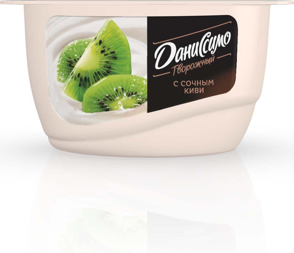 Даниссимо Продукт творожный Киви 5,5%, 130 г даниссимо продукт творожный ягодное мороженое 5 6